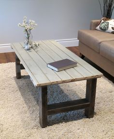 Century Home Coffee Table Made From Reclaimed Wood
