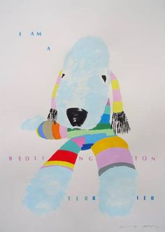 "Saatchi Art Artist Andy Shaw; Painting, ""I am a Bedlington Terrier"" #art"