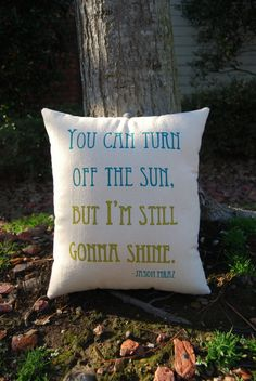 Customizable Double Sided Lyric Pillow The by ThreeYellowFinches, $42.00