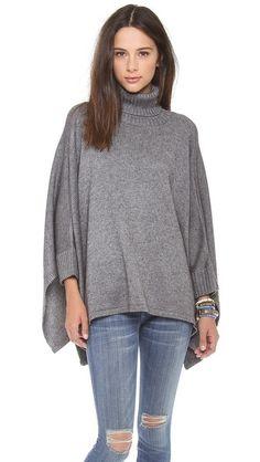 Solid Poncho Sweater by Ami Dans La Rue