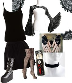 """""""Gothic Romance"""" by electronic-lullaby on Polyvore"""