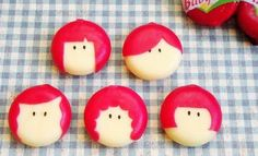 Fun and easy Babybel cheese people. (Also ladybugs on this site.)
