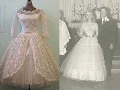 A true Princess wedding dress skirt is made from tulle, which rather than rest below a silky satin overlay fabric is exposed to the world in full frilly glory. If you wanted, while wearing the tulle of your wedding dress skirt you could switch out your lace bodice for a leotard and dance the Nutcracker like a ballerina!  http://sammydvintage.com/vintage-style/vintage-wedding-dress-style-eras/