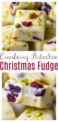 Christmas Fudge, Christmas Buffet, Christmas Snacks, Holiday Treats, Christmas Recipes, White Chocolate Recipes, Vegetarian Chocolate, 6 Ingredient Recipe, Fudge Recipes