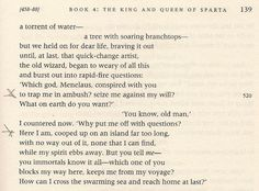 """Compare this passage from the Robert Fagles translation of The Odyssey to """"Roll on John"""": """"They'll trap you in an ambush before you know"""" and """"You've been cooped up on an island far too long."""" Other lines from this translation show up in """"Duquense Whistle"""" and """"Early Roman Kings."""""""
