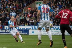 Aaron Mooy fired the home side ahead before Laurent Depoitre added a crucial second goal Huddersfield Town, Brass Band, Man United, Rebounding, Manchester United, The Unit, Football, Running, Goal