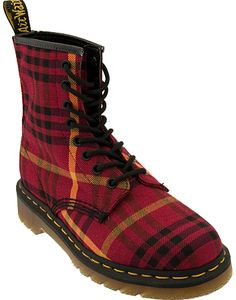 Dr. Martens Tyree Boot Boots - Red Tartan Plaid