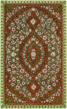 Free Vintage Miniature Rug Download! - The Graphics Fairy