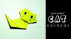 How to Make an Origami Cute Paper Cat for Kids–Cute and Easy Origami Cat...
