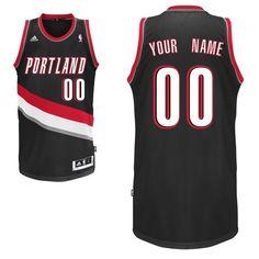 6d85f672bee Customized Men Swingman Portland Trail Blazers Road Black Adidas Perfect  Stitched NBA Jerseys