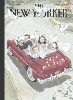 "The New Yorker - Monday, June 19, 2006 - Issue # 4172 - Vol. 82 - N° 18 - Cover ""I Do, I Do, I Do!"" by Barry Blitt"