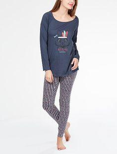 Pyjama long 'Miss Bunny' Lingerie du s au xxl à 17,00€ - Découvrez nos collections mode à petits prix dans notre rayon Pyjama.