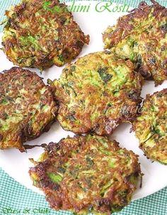 Zucchini Rösti / Zucchini fritters ~ Culorile din farfurie