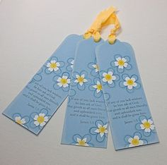 forget-me-not bookmarks by Lisa Johnson with message from Dieter F. Uchtdorf's talk in Women's Conference.