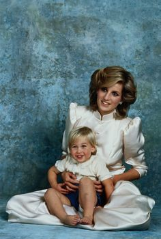 Princess Diana and young Prince William