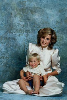Princess Diana and young Prince William