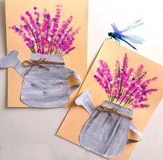 Spring Art Projects, Spring Crafts For Kids, Summer Crafts, Art For Kids, Kindergarten Art, Preschool Crafts, Kid Crafts, Flower Crafts, Flower Art