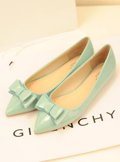 $17.15 European and American leather bow pointed flat shoes with a single flat shoes princess shoes tide-zzkko.com/pic