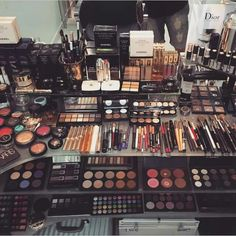 Now that is what you call a serious makeup collection!