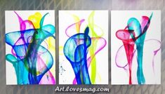 How to Make Captivating Pulled String Art Make a pulled string art painting with paint, paper, liquid watercolors, and string. The process is captivating and the results are beautiful. Watercolor Art Diy, Watercolor Art Paintings, Liquid Watercolor, Image Clipart, Art Clipart, Art Videos For Kids, Art For Kids, Van Gogh For Kids, Painting Crafts For Kids