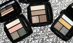 Avon True Colour Eyeshadow Quads - now just follow the numbers to create a smoky eye look.