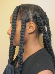 Satin Scarf Braid Out- Natural Hair Style Tutorial | Curly Nikki | Natural Hair Styles and Natural Hair Care #dreadstop