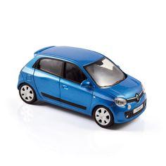 1:43 NOREV Collectors 517413 RENAULT Twingo 2014 Pacific Blue ➜ sample / prototype [A 4-door 4-seat city car with a rear engine? Doesn't it remind you of something?! / 4 portes, 4 places, un moteur dans le dos? Renault renoue avec ses icônes!]