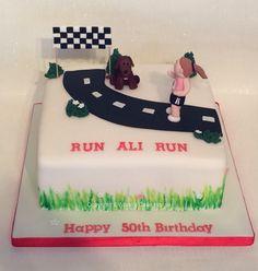 Running themed cake