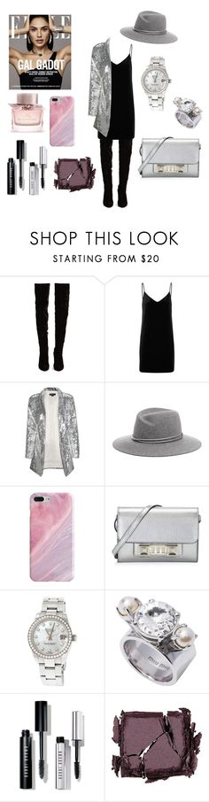 """Untitled #371"" by gloriatovizi on Polyvore featuring Christian Louboutin, rag & bone/JEAN, Recover, Proenza Schouler, Rolex, Bobbi Brown Cosmetics, Surratt and Burberry"