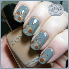 Dotticure Week: Day 4 - Autumnal Dots | Pointless Cafe