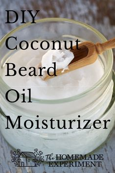 How you can use coconut oil as a simple homemade moisturizing beard oil. Skip the conditioner and use coconut oil instead. Essential Oil For Men, Oils For Men, Coconut Oil For Beard, Diy Beard Oil, Natural Beard Oil, Aromatherapy Recipes, Homemade Soap Recipes, Beauty Recipe