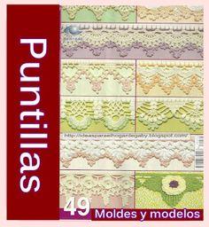 Ideas para el hogar: 49 Moldes de puntillas en crochet