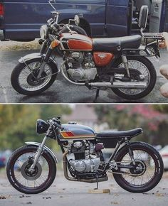 "5,525 Likes, 36 Comments - SAINT MOTORS Co.™ ♠♣ 19⚡13 (@saint_motors) on Instagram: ""@saturdayswrench Photo by @tonyrome_27 Before & After #honda #cb #bratstyle #scrambler #caferacer…"""