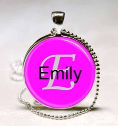 Emily Name Pendant Name Monogram Handcrafted  by wizardofcharms