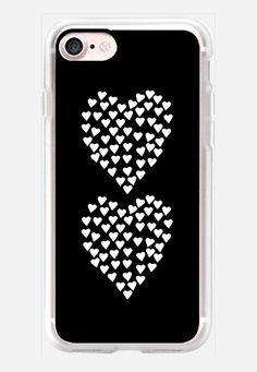 Hearts Heart x2 Black iPhone 7 Case by Project M | Casetify