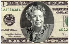 This is What It Would Look Like I We Put Important Women on Our Money!  Eleanor Roosevelt.