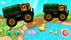 Racing Games For Kids - Monster Truck Racing With Duck - Cars For Kids Racing Games For Kids, Video Games For Kids, Monster Truck Racing, Monster Trucks, Childcare, Race Cars, Toys, Drag Race Cars, Activity Toys