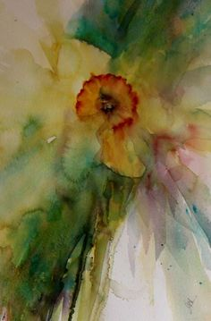 "The Magic of Watercolour Painting Virtual Gallery - Jean Haines, Artist - Spring, Title: ""Ethereal Beauty"""