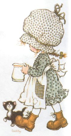 Holly Hobbie by Sarah Kay … – Hobbies Sarah Key, Holly Hobbie, Sara Key Imagenes, Anne Geddes, Cute Illustration, Vintage Pictures, Vintage Cards, Vintage Children, Cute Art