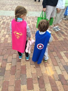 Capes made out of T-shirt and Velcro
