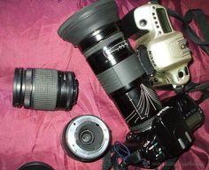 EQUIPO NIKON ANALOGICO 35 mm 2 CAMARAS F50 +3 OBJETIVOS / CÁMARAS DE FOTOS EN TODOCOLECCION