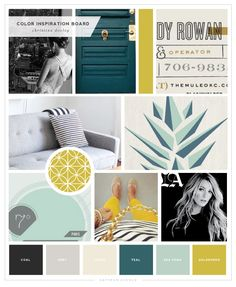 Colors déclinaison Color Scheme for blog. Christina Dooley Photography Logo and Brand Design - Saffron Avenue : Saffron Avenue