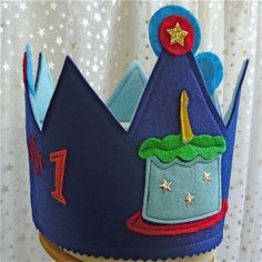 First 1st Birthday Crown for Your Little Prince  by landofsparkle, $21.00