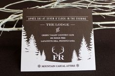 Ski Themed Bar Mitzvah Invitations by La Petite Fleur via Oh So Beautiful Paper (7)