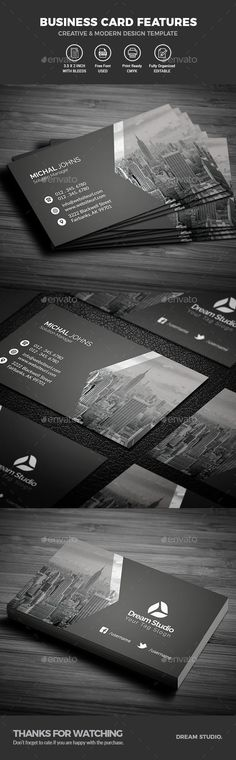 #Business #Cards - Business Cards Print Templates Download here:  https://graphicriver.net/item/business-cards/20090106?