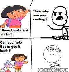 Cereal Guy Meme Why You Smiling Dora- Lol Image
