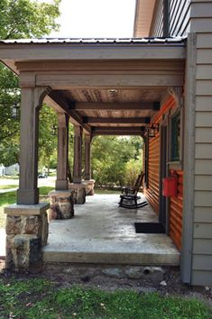 Transforming a Porch Ceiling.  http://extremehowto.com/transforming-a-porch-ceiling/