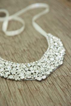 Bridal Statement Necklace $154.00, via Etsy.