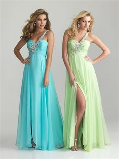 One Shoulder Empire Beaded Ruched Chiffon Prom Dress PD1484 www.tidedresses.co.uk $118.0000