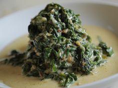 Easy Creamed Spinach recipe from Daphne Brogdon via Food Network